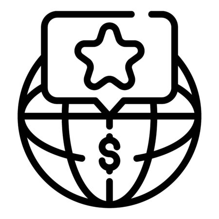 Global store icon, outline style