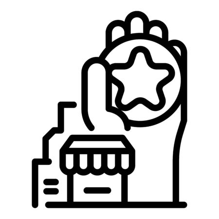 City shop franchise icon, outline style
