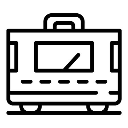 Home electric stabilizer icon, outline style