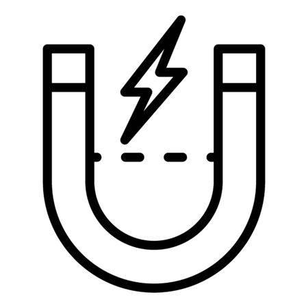 Magnet energy icon, outline style