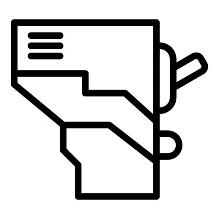 Electric circuit break icon, outline style