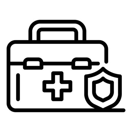 Medical insurance icon, outline style