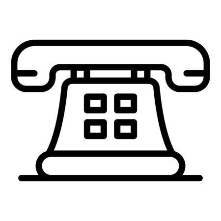Retro telephone icon. Outline retro telephone vector icon for web design isolated on white background Foto de archivo - 137323130