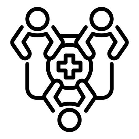 Family medical health icon, outline style