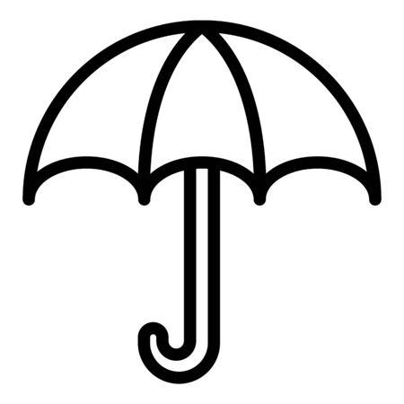 Rain umbrella icon. Outline rain umbrella vector icon for web design isolated on white background