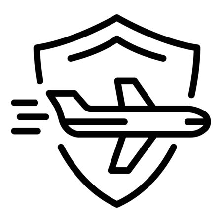 Flying insurance icon, outline style Banque d'images - 137803153
