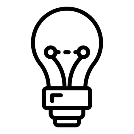 Classic light bulb icon. Outline classic light bulb vector icon for web design isolated on white background 向量圖像