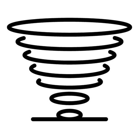 Tornado icon, outline style  イラスト・ベクター素材