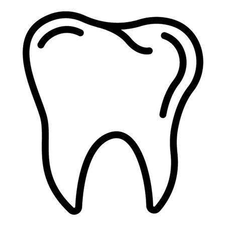 Healthy tooth icon, outline style