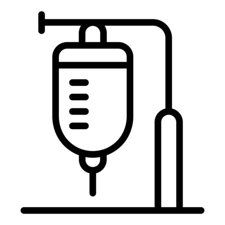 Medical dropper icon, outline style Illusztráció