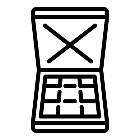 Bandit money case icon, outline style