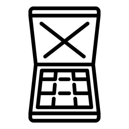 Bandit money case icon, outline style
