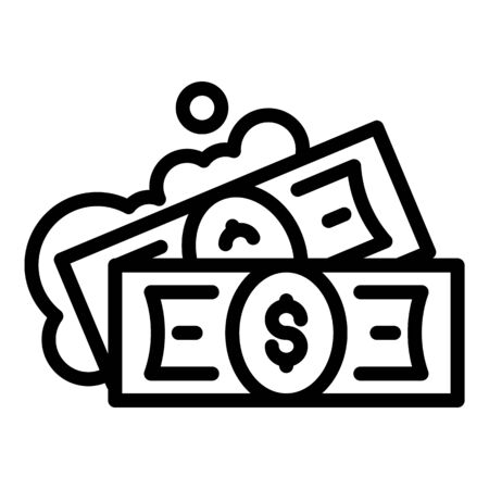 Fraud money icon, outline style 일러스트