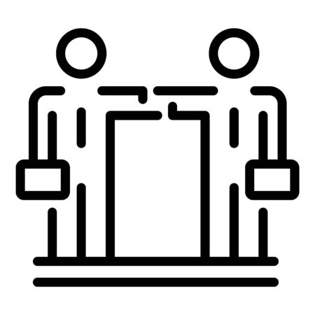Businessman cooperation icon, outline style