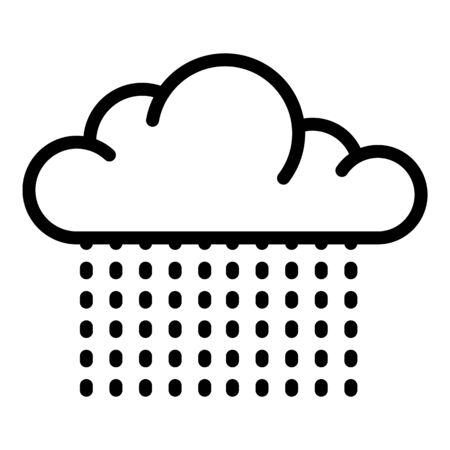 Light cloud rain icon, outline style Illustration