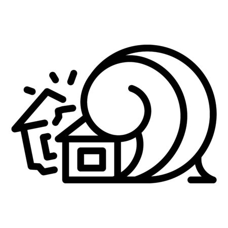 Disaster house tsunami icon, outline style Ilustracja
