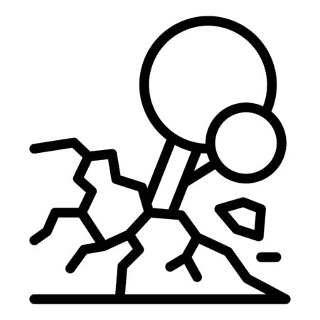 Tree groundslide icon, outline style