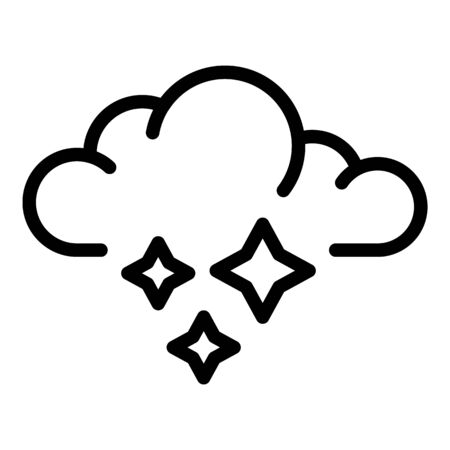 Ice blizzard cloud icon, outline style Ilustracja