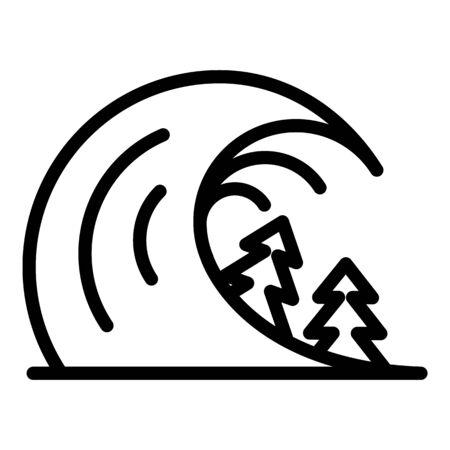 Disaster tsunami icon, outline style Zdjęcie Seryjne - 137967581