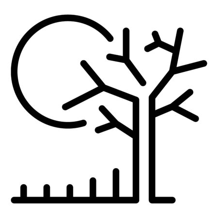 Farm drought icon, outline style 矢量图像