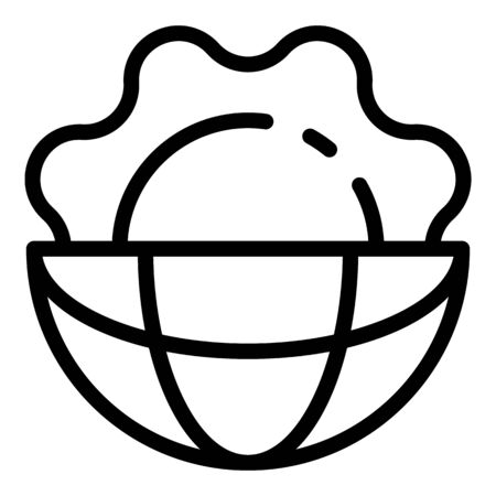 Global hot sun icon, outline style