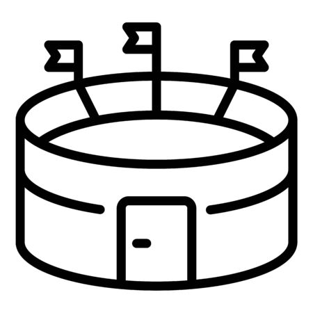 Soccer stadium icon, outline style