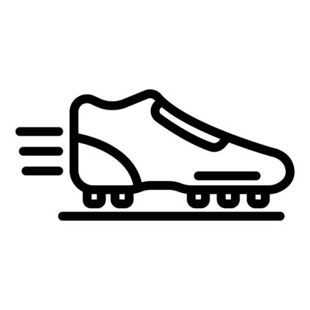 Soccer boot icon, outline style