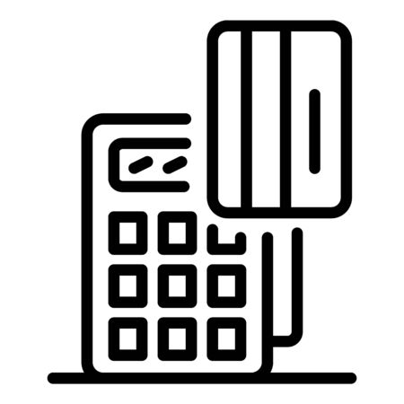 Credit card pos terminal icon, outline style