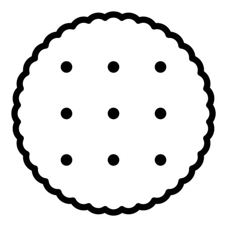 Baked cookie icon, outline style Stock Illustratie