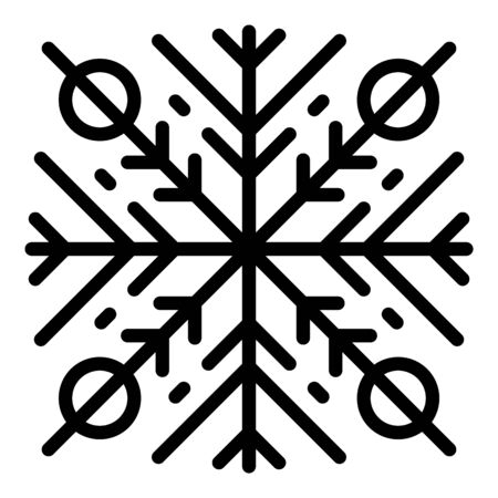 Ornament snowflake icon, outline style Stock Illustratie