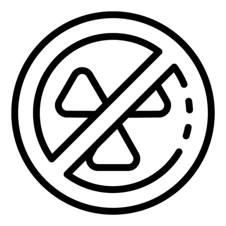No radiation icon, outline style Stock fotó - 137970895