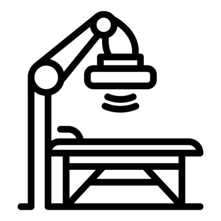 Hospital surgery light icon, outline style