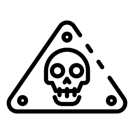 Danger life risk icon, outline style Ilustracja