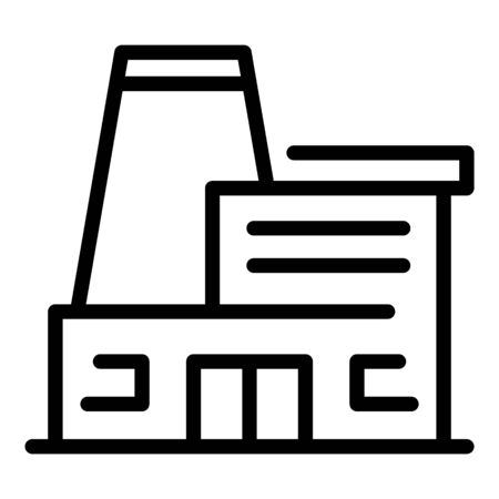 Biohazard factory icon, outline style