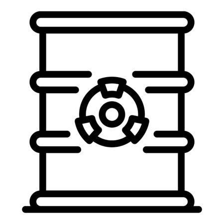 Biohazard barrel icon, outline style Illusztráció
