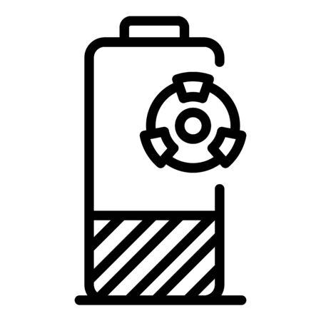 Hazard battery icon, outline style