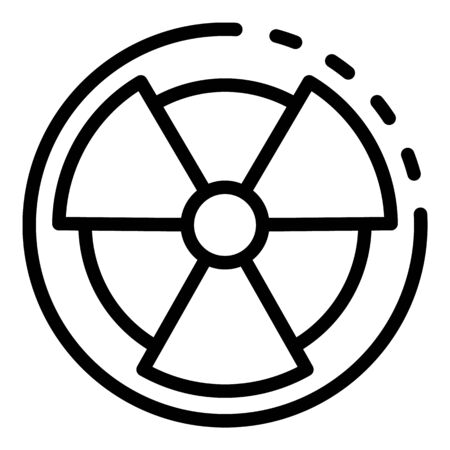 Radiation sign icon, outline style Stock fotó - 137971055