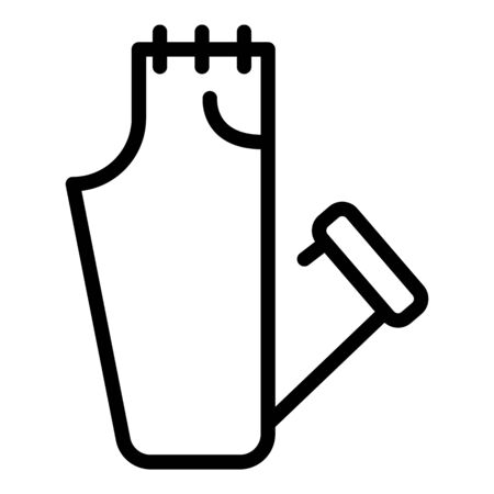 Jeans clothes icon, outline style