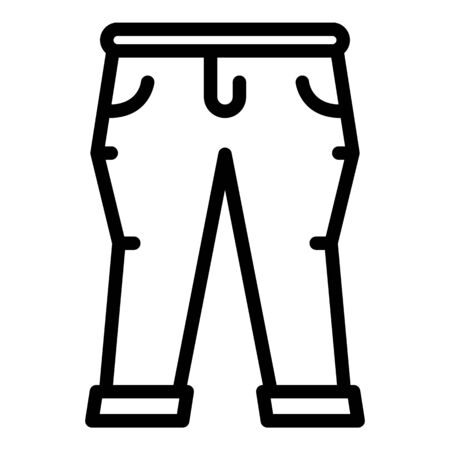 Garment jeans icon, outline style