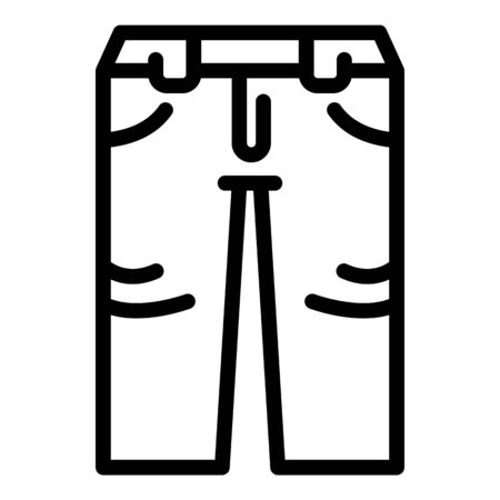 Fashion jeans icon, outline style