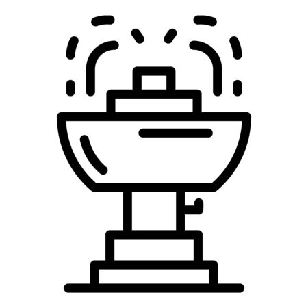 City drinking fountain icon, outline style 일러스트
