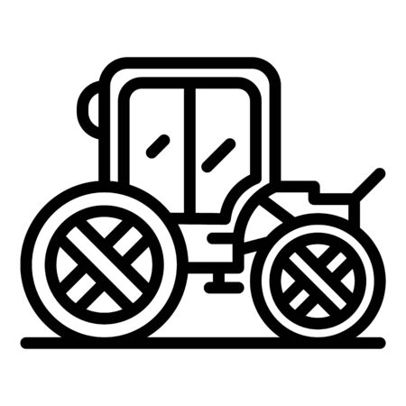 Horse brougham icon, outline style