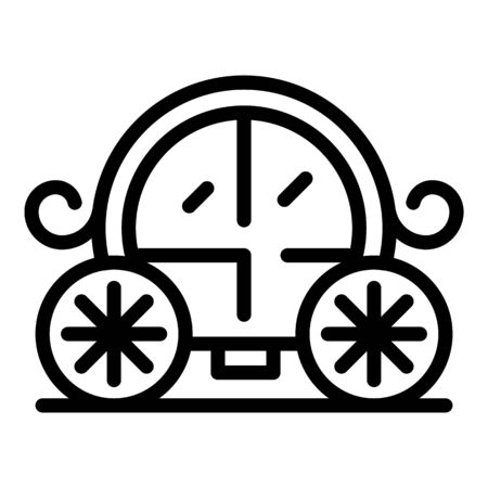 Wedding carriage icon, outline style