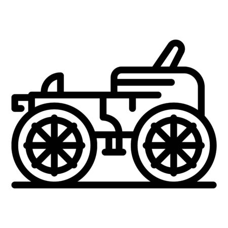 Classic carriage icon, outline style