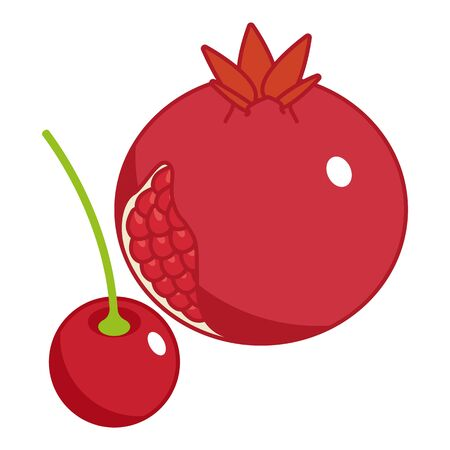 Red fruit icon, isometric style