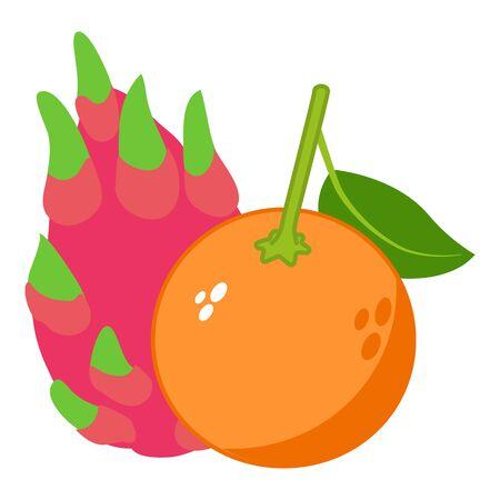 Exotic food icon, isometric style