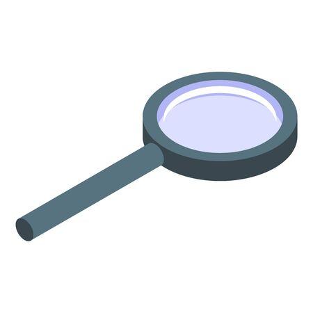 Magnifier icon, isometric style Illusztráció