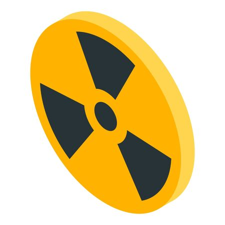Danger radiation icon. Isometric of danger radiation vector icon for web design isolated on white background