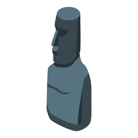 Easter island monument icon, isometric style