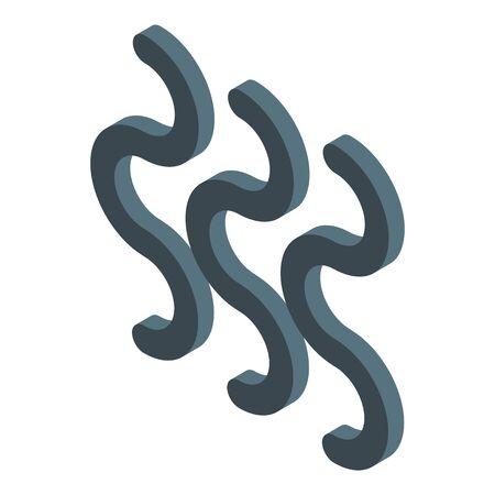 Radiation wave icon, isometric style